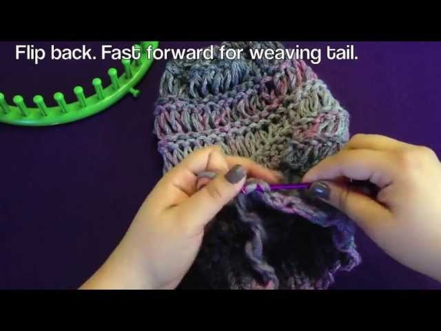 Loom Along Spring Breeze Slouchy Hat with Closed Captions (CC)