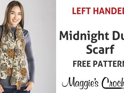 Midnight Dune Scarf Free Crochet Pattern - Left Handed