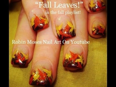 Nail Art Tutorial | DIY Easy Fall Nail Art | Autumn Leaves Design Thanksgiving Tutorial