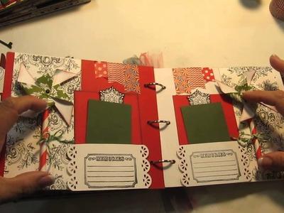 Scrapbook Mini Album - Two Christmas Themed Teresa Collins Kit)