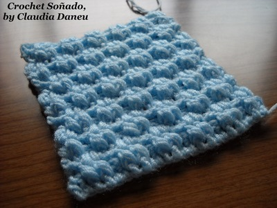 """SUPER SPECIAL"" CROCHET ""DOUBLE SEED STITCH"". PUNTO ARROZ DOBLE CROCHET ""SUPER ESPECIAL"""