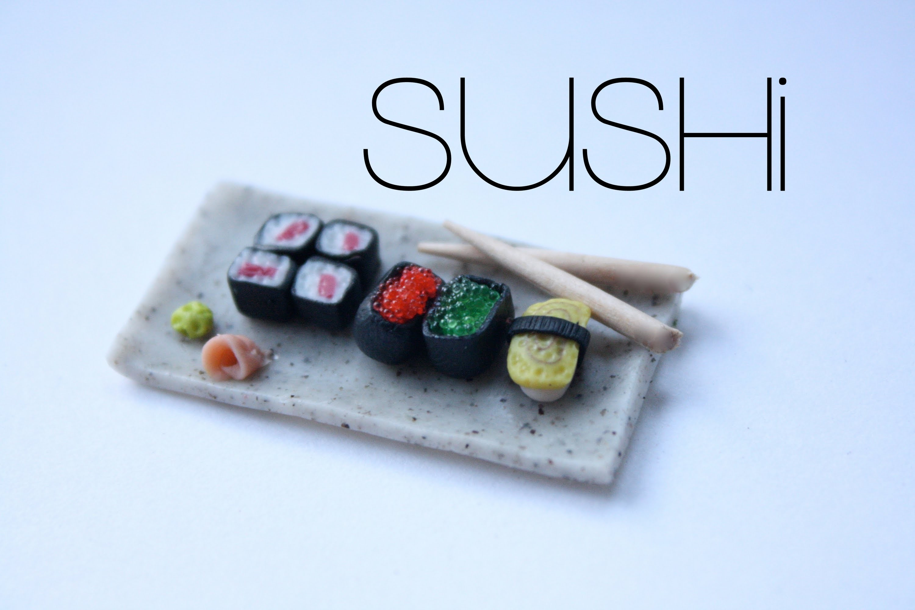 Sushi - Polymer Clay Food Tutorial & Miniature Plate