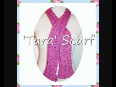 Tara Lace Scarf with Optional Crochet Edging DK Knitting Pattern