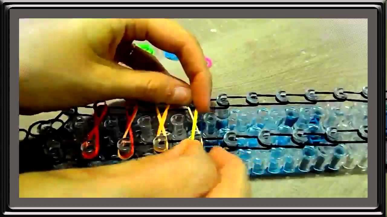 Tuto DIY Rainbow Loom Bands bracelet amitié infini facile FR   Tutorial easy double infinity armband
