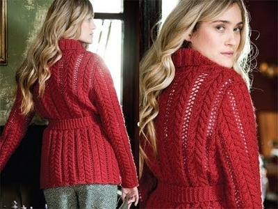 #17 Cable Lace Cardigan, Vogue Knitting Early Fall 2010