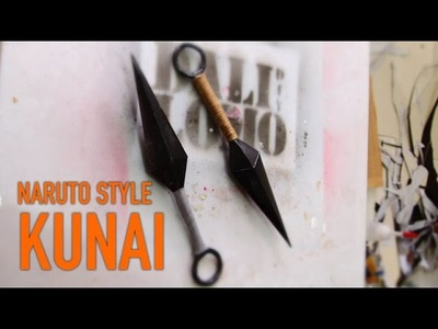 #97: Naruto Style Kunai DIY - Cereal Box (free template)