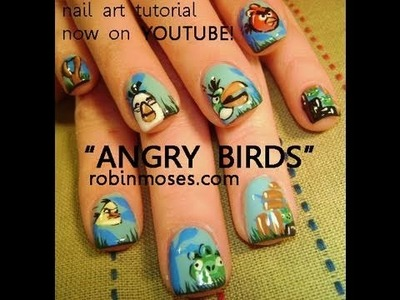 Angry Birds Nail Art Tutorial