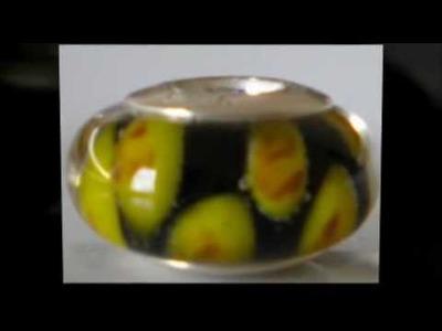 Authentic Glass Murano Bead & 925 Sterling Silver Core