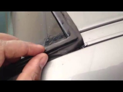 BMW Rear Window Seal Replacement DIY Part 2