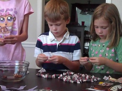 Crafting w. the kids ep.2 How to make a tootsie roll mustache
