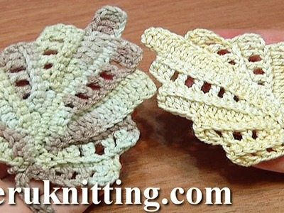 Crochet Leaf Work In Back Loops Tutorial 22 Part 1 of 2