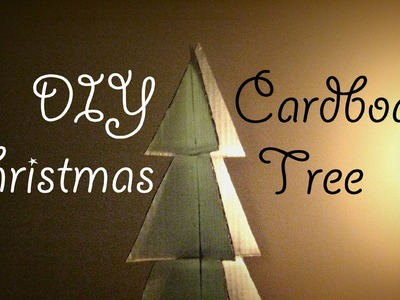DIY Christmas: 3D Cardboard Tree Tutorial | Julia E