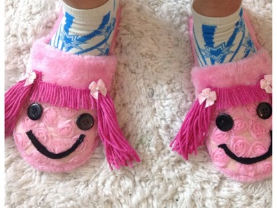 DIY DECORAR TUS PANTUNFLAS.DECORATE YOUR OWN SLIPPERS