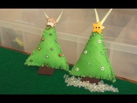 DIY: Felt Christmas Tree Ornament.
