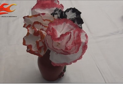 DIY Flower From Tissue Paper - Style 1 - JK Arts 007