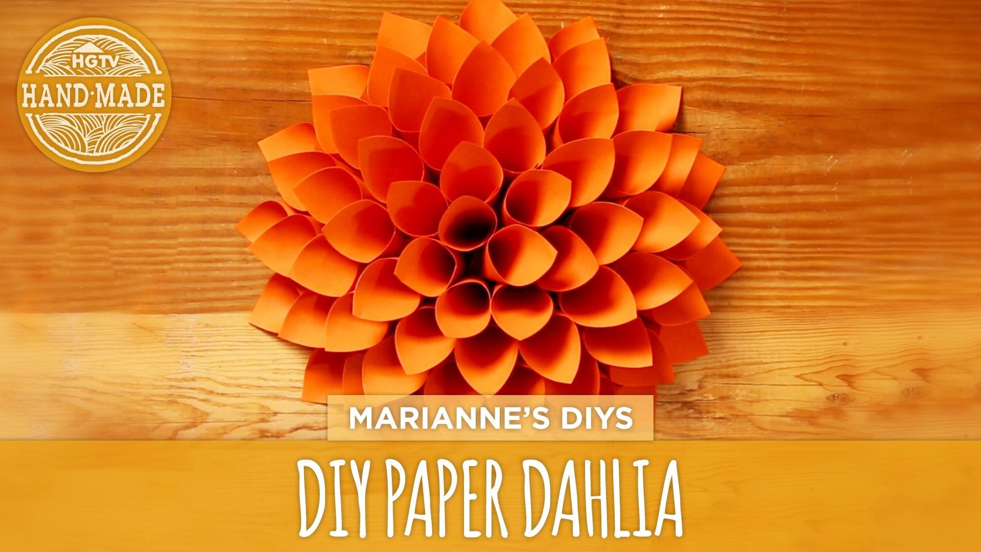 DIY Giant Paper Dahlia - HGTV Handmade
