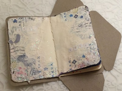 DIY (Moleskine) Postal Notebook.Greeting Card