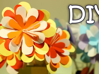 DIY Paper Flowers On A Drinking Straw - How To Make Easy Paper Flowers