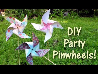 DIY party pinwheels