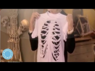 DIY Skeleton T-Shirt - Martha Stewart