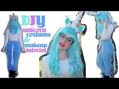 DIY Unicorn Costume and Makeup Tutorial