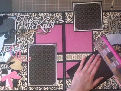 Faith Abigail Designs - Wedding Album Series: Tie the Knot Double Scrapbook Layout