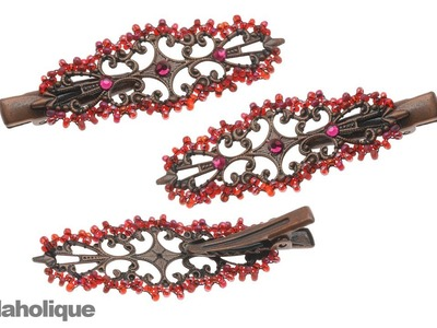 How to Bead Weave a Picot Edge around Filigree