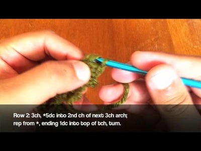 How to Crochet the Boxed Shell Stitch