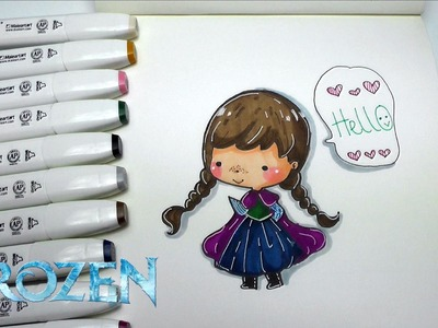 How to Draw FROZEN ANNA - Step by Step EASY DIY