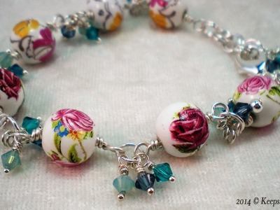 How to Make a Bead and Swarovski Crystal Bracelet