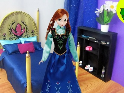 How to make a bed doll bed for Anna from the movie Frozen - Recycling - Doll Crafts