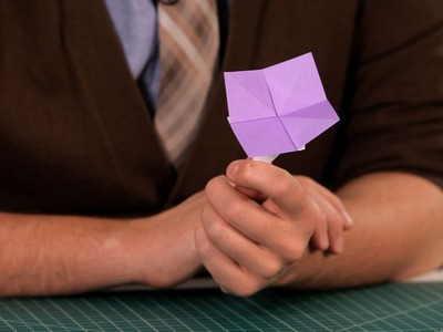 How to Make an Easy Flower   Origami