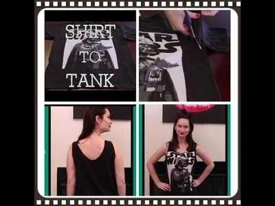 How to turn a Mens T shirt into a tank top The Rachel Dixon tutorial DIY Darth Vader