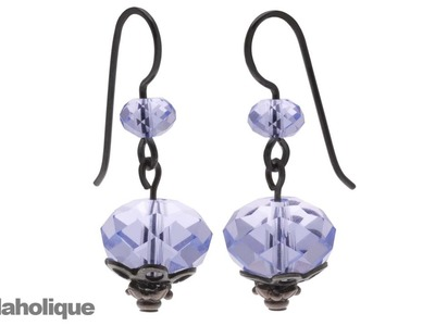How to  Use Add a Bead Ear Wire Hooks to Make SWAROVSKI ELEMENTS Crystal Earrings