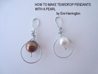 JEWELRY MAKING, how to make a pearl pendant.