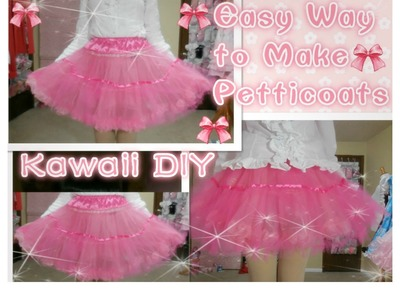 Kawaii DIY- How to Make Petticoats for Beginners (with only 3 yards tulle)(easy)