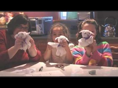 Kids' Lent Craft:  Lamb of God Washcloth