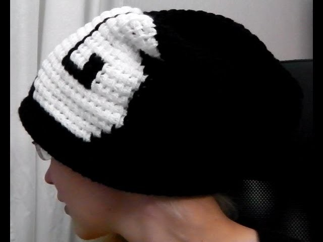 Long beanie with graphics tunisian crochet how to