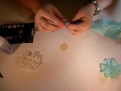 Making your own Lace Flowers