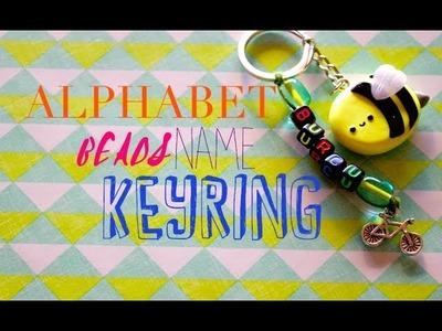 Name Keyring Tutorial with Alphabet Beads | Pasteldaisy