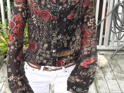 OOTD; Paisley Button Up & White Jeans OOTD