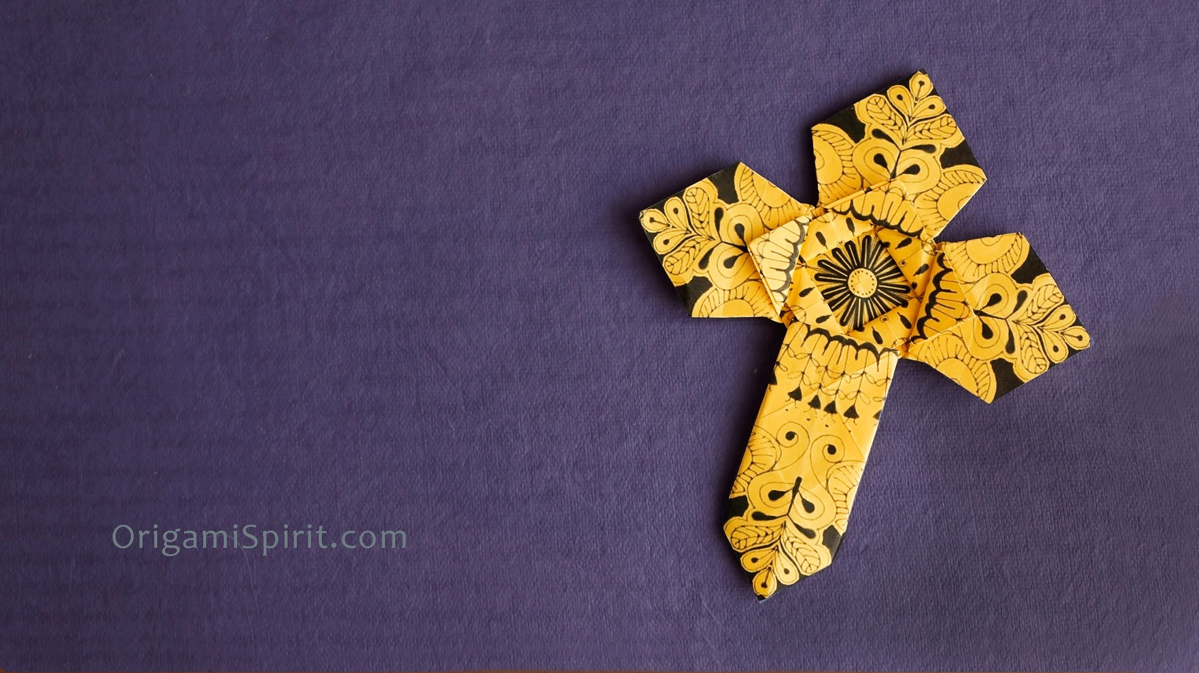 Origami Cross - Version 2 : : Cruz de papel 2, My Crafts and DIY Projects