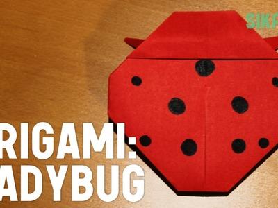 Origami: How to Make a Ladybug