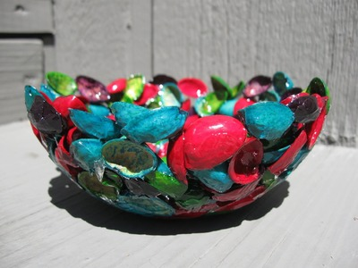 Pistachio Shell and Resin Bowl Recycling Craft