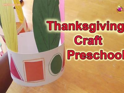 Preschool Learning - Thanksgiving Craft - LittleStoryBug