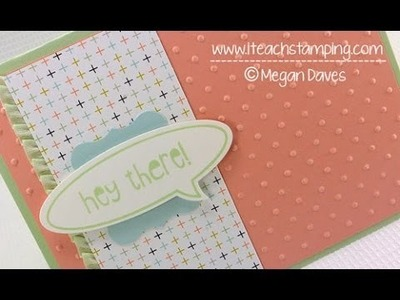 Quick DIY Rubber Stamping Greeting Card Idea - Card in Five