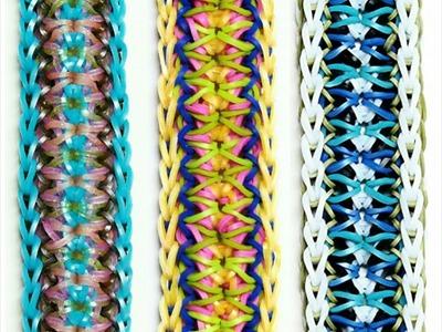 """Rainbow Loom Bracelet """"QUIVER"""" (Original Design) (ref #5p)"""