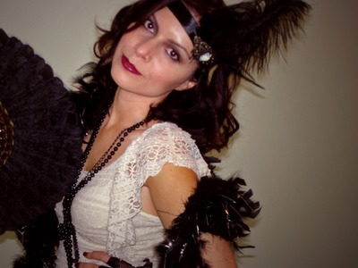 Roaring 20's The Great Gatsby Halloween Costume DIY Hair Makeup Fashion Tutorial