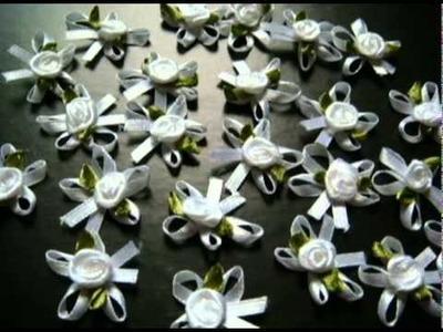 Satin Rose - ribbon flower