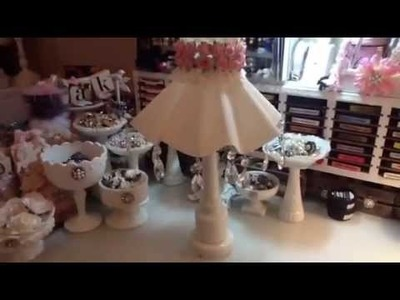 Shabby Chic Altered Lamp Shade WOC DT Project